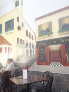 The trompe l'oeil murals make you feel like you're in Italy.