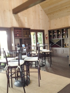 A view inside the tasting room.