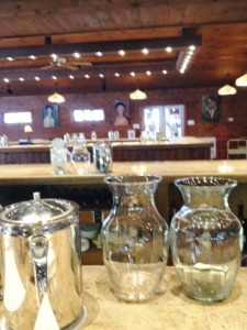 Rows of tasting bars