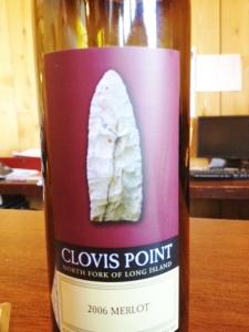Clovis Point on label...