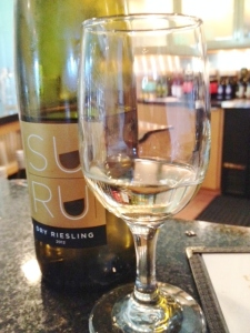 The SUHRU Riesling got some favorable comments.
