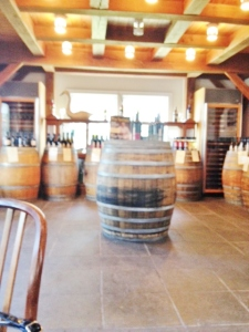 One part of the tasting room.