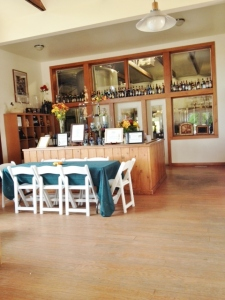 Part of the tasting room
