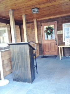 The entrance to the tasting room