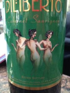 Art on the label--at first, I thought they were looking at cell phones!