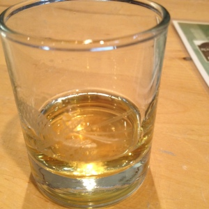 The whisky glass