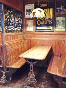 The booths remind me of an English pub.