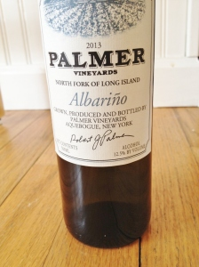 The small bottle of the Albarino.