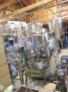 You can peek at some of the wine-making equipment from the tasting room.