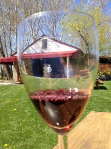 The tasting barn viewed through a taste.