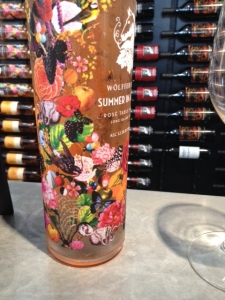 We didn't get to try this Wolffer Estate wine, but we really liked the bottle.