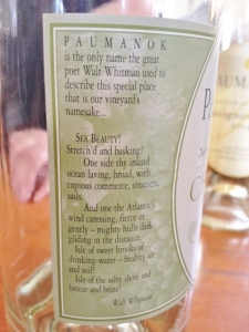 I love that they quote Walt Whitman on the label!