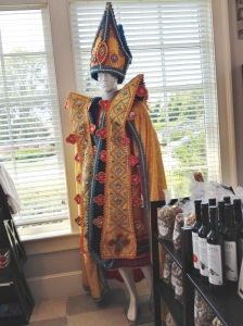 A carnival outfit from the gift shop to get you in the mood for our last taste.