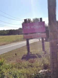 one sign