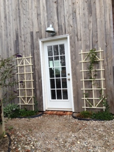 The entrance to the tasting shed