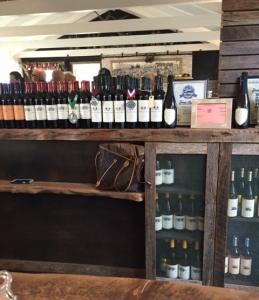 Array of bottles