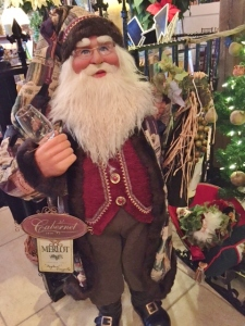 Father Christmas was guarding the well-stocked gift shop, which included food items as well.