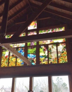 Pretty stained glass window