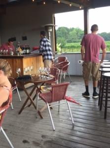 The bar on the veranda