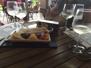 "The ""charcuterie platter"" and some whites."