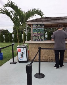 Here's something not every winery has--a Tiki Bar!