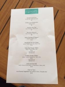 Noah's menu