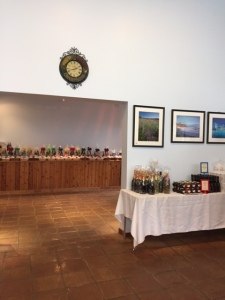 Past the room with the tasting bar is a large room with gift items.