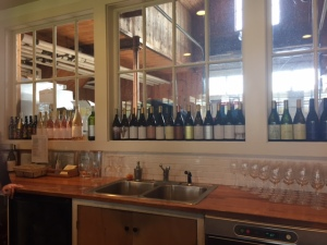Part of the array of different wines they make.