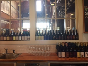 More of the array of wines.
