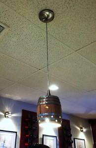 We liked the ceiling lights, like mini-barrels.