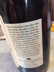 Unlike some places, the labels actually give you information about the wine.