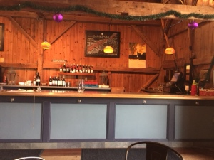 Plenty of room at the bar on this cold winter Friday.