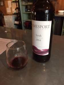 My favorite of the day, the syrah.