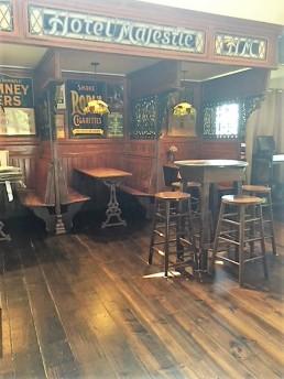 We like the cozy pub-like booths.